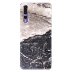 Silikonové pouzdro iSaprio (mléčně zakalené) BW Mramor na mobil Huawei P20 Pro