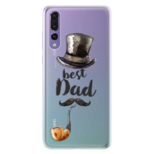 Silikonové pouzdro iSaprio (mléčně zakalené) Best Dad na mobil Huawei P20 Pro