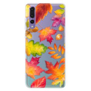 Silikonové pouzdro iSaprio (mléčně zakalené) Podzimní Lístečky na mobil Huawei P20 Pro