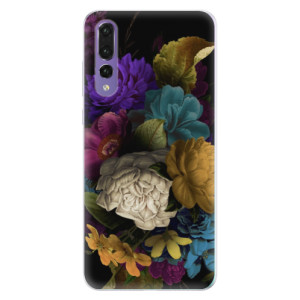 Silikonové pouzdro iSaprio (mléčně zakalené) Temné Květy na mobil Huawei P20 Pro