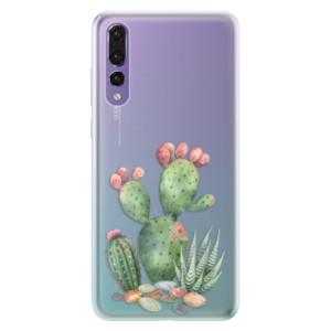 Silikonové pouzdro iSaprio (mléčně zakalené) Kaktusy 01 na mobil Huawei P20 Pro