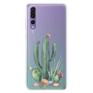Silikonové pouzdro iSaprio (mléčně zakalené) Kaktusy 02 na mobil Huawei P20 Pro