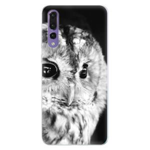 Silikonové pouzdro iSaprio (mléčně zakalené) BW Sova na mobil Huawei P20 Pro