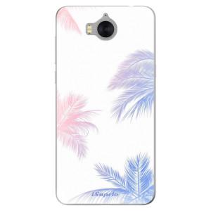Silikonové pouzdro iSaprio (mléčně zakalené) Palmy 10 na mobil Huawei Y5 2017 / Y6 2017