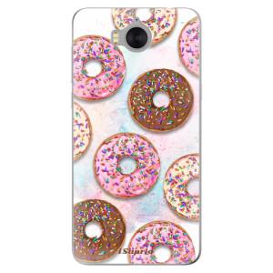 Silikonové pouzdro iSaprio (mléčně zakalené) Donutky Všude 11 na mobil Huawei Y5 2017 / Y6 2017