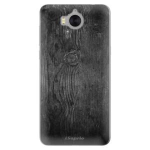 Silikonové pouzdro iSaprio (mléčně zakalené) Black Wood 13 na mobil Huawei Y5 2017 / Y6 2017