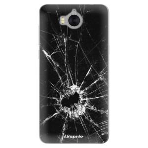 Silikonové pouzdro iSaprio (mléčně zakalené) Broken Glass 10 na mobil Huawei Y5 2017 / Y6 2017