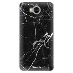 Silikonové pouzdro iSaprio (mléčně zakalené) Black Marble 18 na mobil Huawei Y5 2017 / Y6 2017