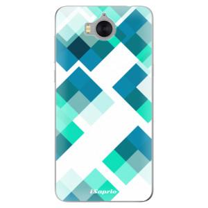 Silikonové pouzdro iSaprio (mléčně zakalené) Abstract Squares 11 na mobil Huawei Y5 2017 / Y6 2017