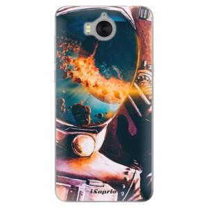 Silikonové pouzdro iSaprio (mléčně zakalené) Astronaut 01 na mobil Huawei Y5 2017 / Y6 2017