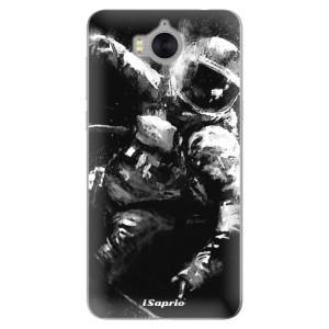Silikonové pouzdro iSaprio (mléčně zakalené) Astronaut 02 na mobil Huawei Y5 2017 / Y6 2017