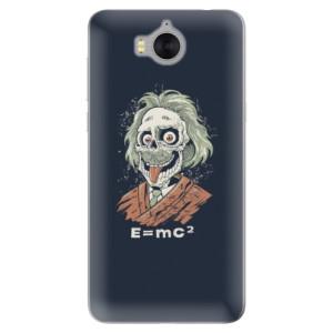 Silikonové pouzdro iSaprio (mléčně zakalené) Einstein 01 na mobil Huawei Y5 2017 / Y6 2017