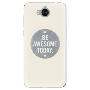 Silikonové pouzdro iSaprio (mléčně zakalené) Awesome 02 na mobil Huawei Y5 2017 / Y6 2017