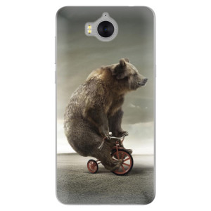 Silikonové pouzdro iSaprio (mléčně zakalené) Medvěd 01 na mobil Huawei Y5 2017 / Y6 2017