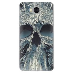 Silikonové pouzdro iSaprio (mléčně zakalené) Abstract Skull na mobil Huawei Y5 2017 / Y6 2017