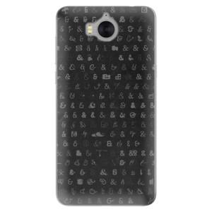 Silikonové pouzdro iSaprio (mléčně zakalené) Ampersand 01 na mobil Huawei Y5 2017 / Y6 2017