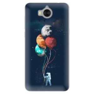 Silikonové pouzdro iSaprio (mléčně zakalené) Balónky 02 na mobil Huawei Y5 2017 / Y6 2017