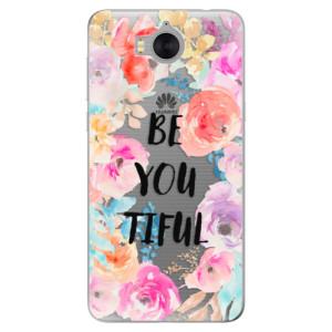 Silikonové pouzdro iSaprio (mléčně zakalené) BeYouTiful na mobil Huawei Y5 2017 / Y6 2017