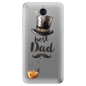 Silikonové pouzdro iSaprio (mléčně zakalené) Best Dad na mobil Huawei Y5 2017 / Y6 2017