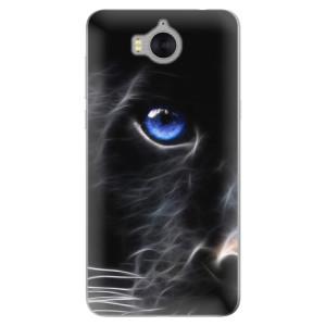 Silikonové pouzdro iSaprio (mléčně zakalené) Black Puma na mobil Huawei Y5 2017 / Y6 2017