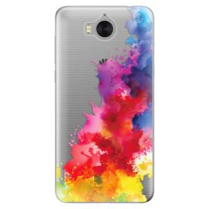 Silikonové pouzdro iSaprio (mléčně zakalené) Color Splash 01 na mobil Huawei Y5 2017 / Y6 2017