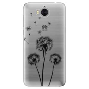 Silikonové pouzdro iSaprio (mléčně zakalené) Tři Černé Pampelišky na mobil Huawei Y5 2017 / Y6 2017