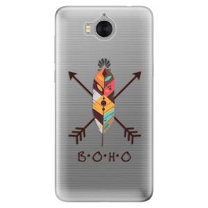 Silikonové pouzdro iSaprio (mléčně zakalené) BOHO na mobil Huawei Y5 2017 / Y6 2017