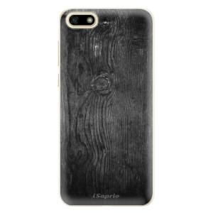 Silikonové pouzdro iSaprio (mléčně zakalené) Black Wood 13 na mobil Huawei Y5 2018