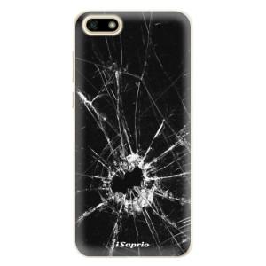 Silikonové pouzdro iSaprio (mléčně zakalené) Broken Glass 10 na mobil Huawei Y5 2018