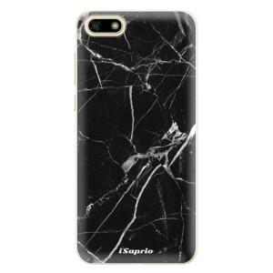 Silikonové pouzdro iSaprio (mléčně zakalené) Black Marble 18 na mobil Huawei Y5 2018