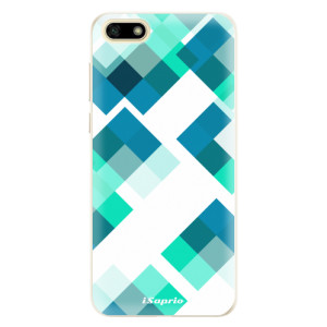 Silikonové pouzdro iSaprio (mléčně zakalené) Abstract Squares 11 na mobil Huawei Y5 2018