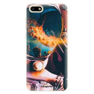 Silikonové pouzdro iSaprio (mléčně zakalené) Astronaut 01 na mobil Huawei Y5 2018