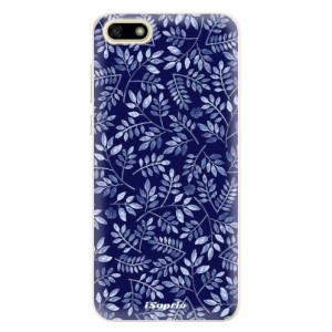Silikonové pouzdro iSaprio (mléčně zakalené) Blue Leaves 05 na mobil Huawei Y5 2018