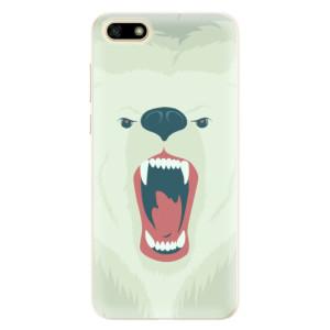 Silikonové pouzdro iSaprio (mléčně zakalené) Naštvanej Medvěd na mobil Huawei Y5 2018