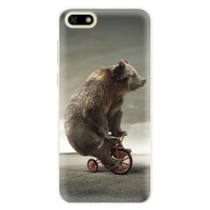 Silikonové pouzdro iSaprio (mléčně zakalené) Medvěd 01 na mobil Huawei Y5 2018