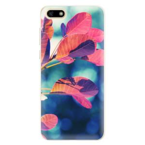 Silikonové pouzdro iSaprio (mléčně zakalené) Podzim 01 na mobil Huawei Y5 2018