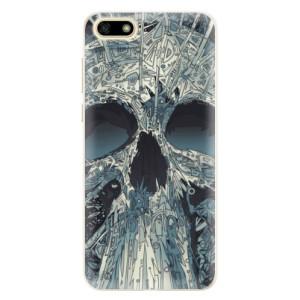 Silikonové pouzdro iSaprio (mléčně zakalené) Abstract Skull na mobil Huawei Y5 2018