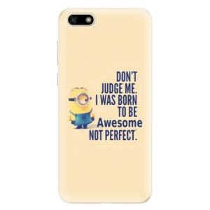 Silikonové pouzdro iSaprio (mléčně zakalené) Be Awesome na mobil Huawei Y5 2018
