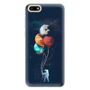 Silikonové pouzdro iSaprio (mléčně zakalené) Balónky 02 na mobil Huawei Y5 2018