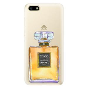 Silikonové pouzdro iSaprio (mléčně zakalené) Chanel Gold na mobil Huawei Y5 2018