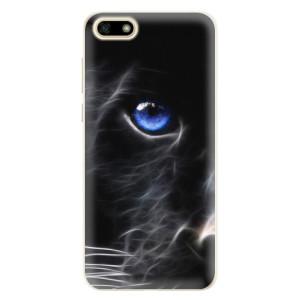Silikonové pouzdro iSaprio (mléčně zakalené) Black Puma na mobil Huawei Y5 2018