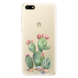 Silikonové pouzdro iSaprio (mléčně zakalené) Kaktusy 01 na mobil Huawei Y5 2018