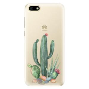 Silikonové pouzdro iSaprio (mléčně zakalené) Kaktusy 02 na mobil Huawei Y5 2018