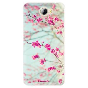 Silikonové pouzdro iSaprio (mléčně zakalené) Blossom 01 na mobil Huawei Y5 II / Y6 II Compact
