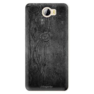 Silikonové pouzdro iSaprio (mléčně zakalené) Black Wood 13 na mobil Huawei Y5 II / Y6 II Compact