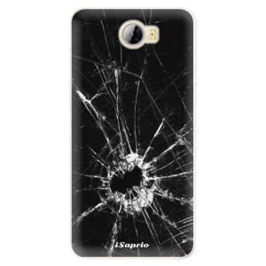 Silikonové pouzdro iSaprio (mléčně zakalené) Broken Glass 10 na mobil Huawei Y5 II / Y6 II Compact