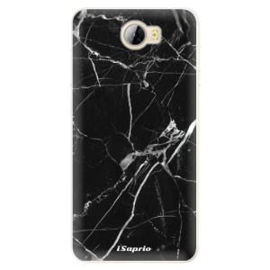 Silikonové pouzdro iSaprio (mléčně zakalené) Black Marble 18 na mobil Huawei Y5 II / Y6 II Compact
