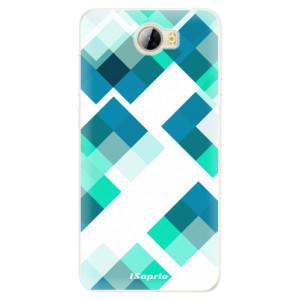 Silikonové pouzdro iSaprio (mléčně zakalené) Abstract Squares 11 na mobil Huawei Y5 II / Y6 II Compact