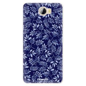 Silikonové pouzdro iSaprio (mléčně zakalené) Blue Leaves 05 na mobil Huawei Y5 II / Y6 II Compact