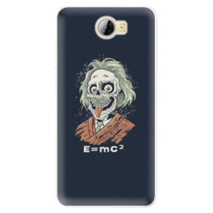 Silikonové pouzdro iSaprio (mléčně zakalené) Einstein 01 na mobil Huawei Y5 II / Y6 II Compact